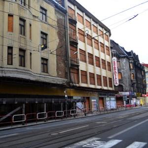 Pohled na komplex budov O-T.