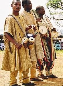 Jorubští bubeníci, zdroj: Wikipedia