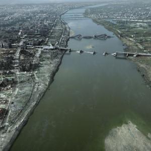 Pohled na oba břehy řeky Visly